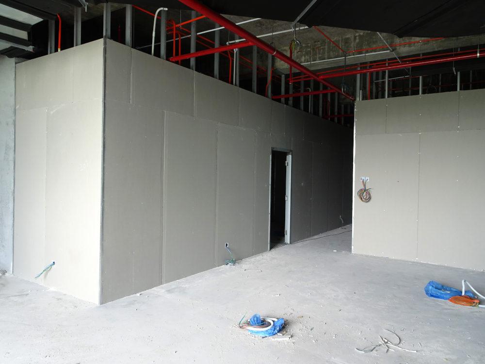 Wandkonstruktion Trockenbau